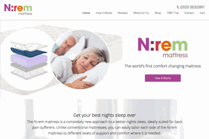 N:rem matress website