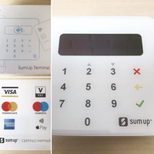 A picture of the new card machine