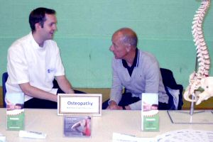 Nick Coysh Osteopath exhibition stand