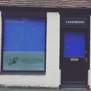 A picture of the front of the South Downs Health & Wellbeing shop.