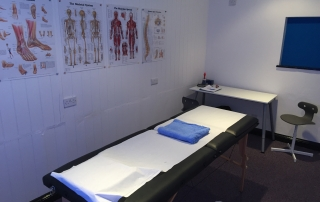 A photo of the treatment room at SouthDowns Performance Centre in Storrington